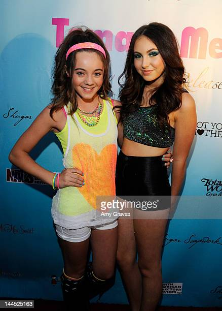Ava Allan and Temara Melek attend Temara Melek's Birthday Bash and EP Release Party at Bellevardo Studios on May 12 2012 in Hollywood California