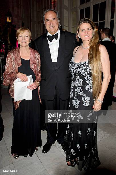 Ava Astaire McKenzie Bonnie Comley and Stewart F Lane attend the after party of the launch night of 'Top Hat' at The Waldorf Hilton Hotel on May 9...