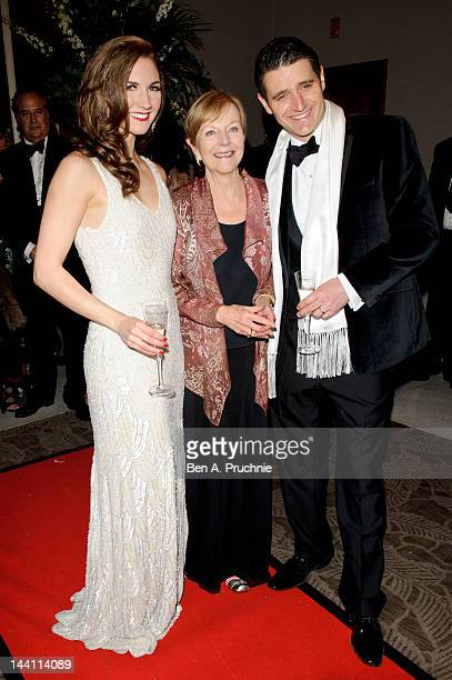 Ava Astaire McKenzie Summer Strallen and Tom Chambers attend the after party of the launch night of 'Top Hat' at The Waldorf Hilton Hotel on May 9...