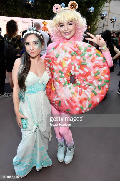 Ava Cantrell and Merit Leighton at the Dream Halloween 2017 Costume Party Benefitting Starlight Children's Foundation presented by Michaels and Aaron...