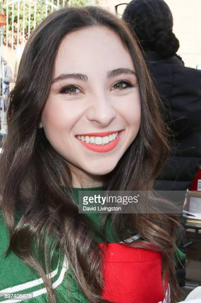 Ava Cantrell is seen at the Los Angeles Mission's Christmas Celebration on Skid Row on December 22 2017 in Los Angeles California