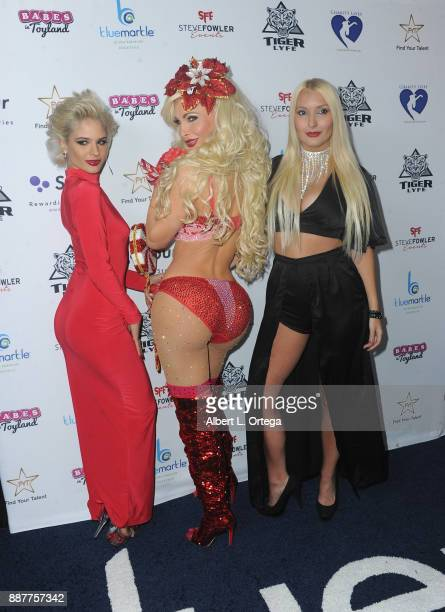 Ava Capra Cassandra Cass and Casey Konkel arrive for the 10th Annual Babes In Toyland Charity Toy Drive held at Avalon on December 6 2017 in...