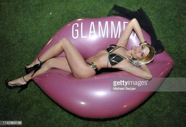 Ava Capra poses for portrait at beGlammed Sunset Soiree Presented by Fullscreen on April 12 2019 in Palm Springs California