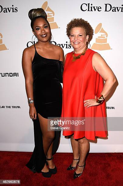 Ava Coleman and Chairman/CEO of BET Debra L Lee attend the PreGRAMMY Gala and Salute To Industry Icons honoring Martin Bandier on February 7 2015 in...
