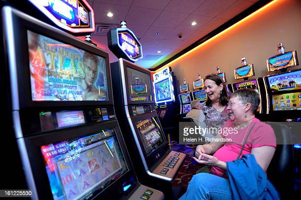 Ava Coleman seated and her friend Karen D'Ambrosio enjoy playing the penny slots at Johnny Z's in Central City The gaming commission has set the tax...