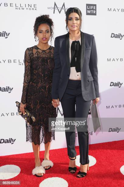 Ava Dash and Fashion designer Rachel Roy arrive at the Daily Front Row's 3rd Annual Fashion Los Angeles Awards at the Sunset Tower Hotel on April 2...