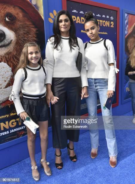 Ava Dash fashion designer Rachel Roy and Tallulah Ruth Dash arrive at the premiere of Warner Bros Pictures' Paddington 2 at Regency Village Theatre...