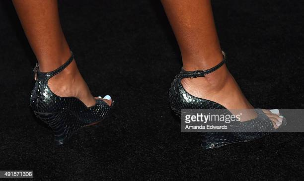 Ava Dash shoe detail arrives at Teen Vogue's 13th Annual Young Hollywood Issue Launch Party on October 2 2015 in Los Angeles California