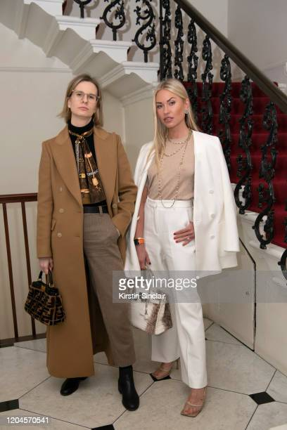 Ava De La Flor and Lexi Fargo at the Maison Bent AW20 Presentation at Pushkin House on February 06 2020 in London England