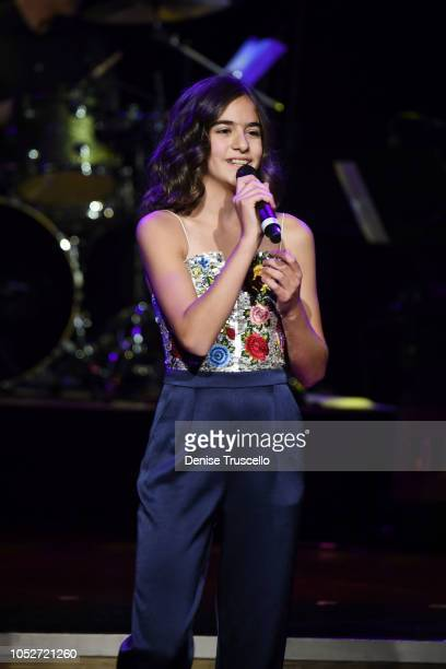 Ava Della Pietra performs at Las Vegas's 8th annual NF Hope Concert A Benefit for Neurofibromatosis at the Palazzo Theatre at The Palazzo Las Vegas...