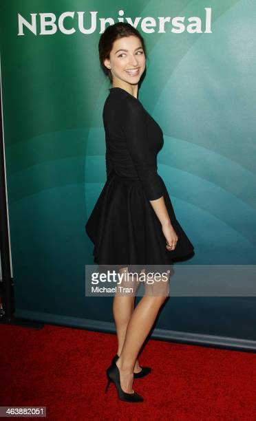 Ava DelucaVerley arrives at the NBC/Universal 2014 TCA Winter press tour held at The Langham Huntington Hotel and Spa on January 19 2014 in Pasadena...