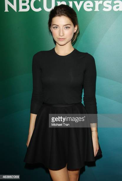 Ava Deluca-Verley arrives at the NBC/Universal 2014 TCA Winter press tour held at The Langham Huntington Hotel and Spa on January 19, 2014 in...