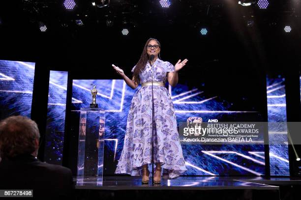 Ava DuVernay accepts John Schlesinger Britannia Award for Excellence in Directing presented by The GREAT Britain Campaign at the 2017 AMD British...