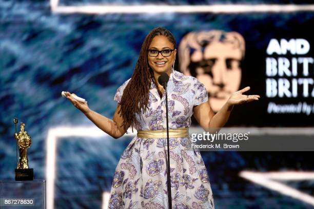 Ava DuVernay accepts John Schlesinger Britannia Award for Excellence in Directing presented by The GREAT Britain Campaign onstage at the 2017 AMD...