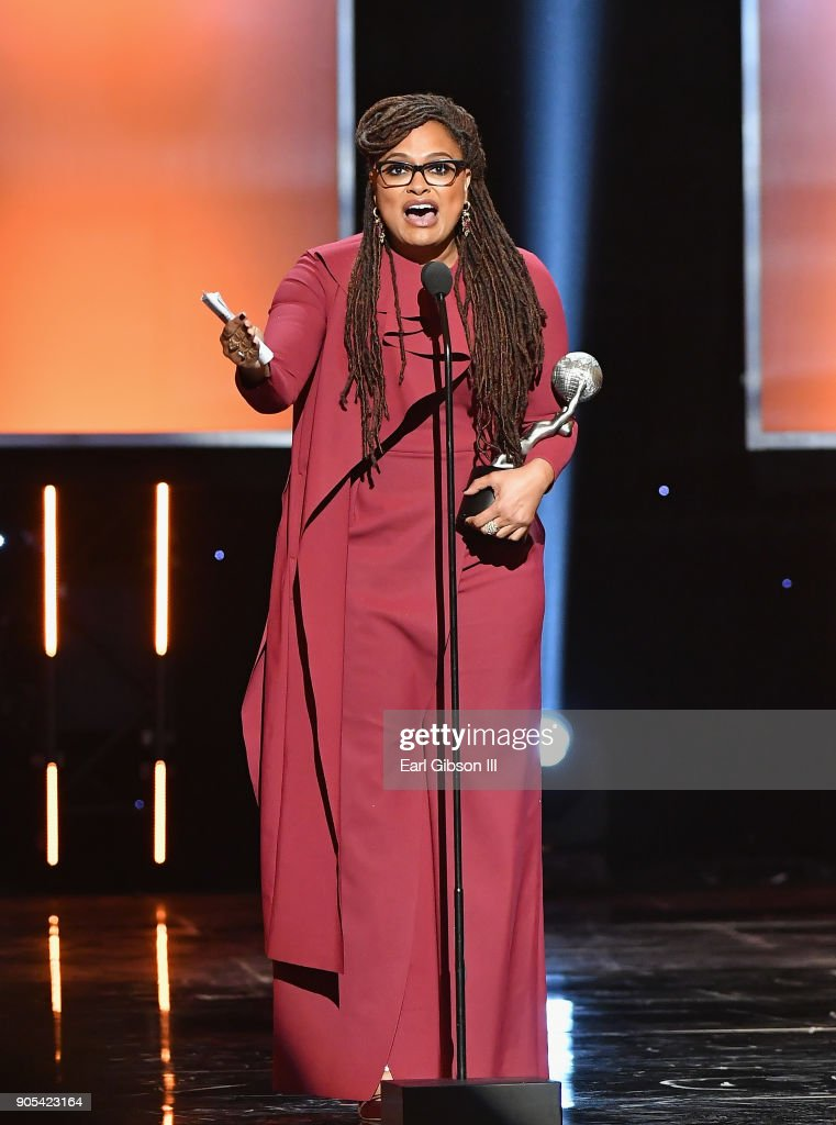 Ava DuVernay accepts the Entertainer of the Year award onstage at the 49th NAACP Image Awards on January 15, 2018 in Pasadena, California.