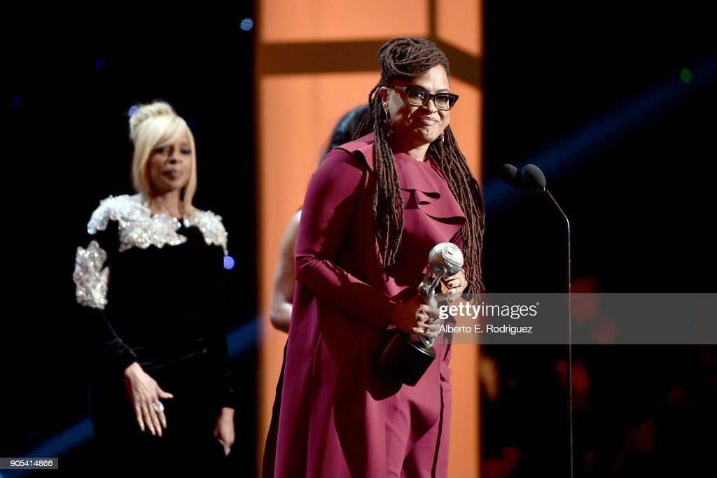 Ava DuVernay accepts the Entertainer of the Year award onstage during the 49th NAACP Image Awards at Pasadena Civic Auditorium on January 15, 2018 in Pasadena, California.