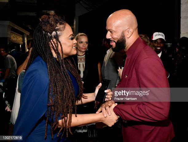 Ava DuVernay and Common attend the 62nd Annual GRAMMY Awards at STAPLES Center on January 26 2020 in Los Angeles California