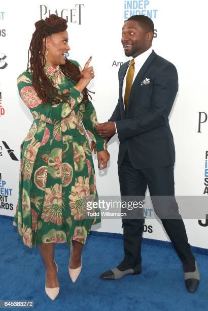 Ava DuVernay and David Oyelowo attend the 2017 Film Independent Spirit Awads on February 25 2017 in Santa Monica California