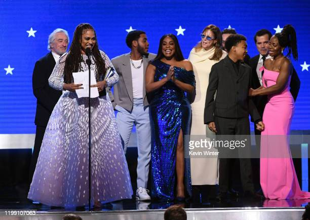 Ava DuVernay and fellow cast and crew of 'When They See Us' accept the Best Limited Series award for 'When They See Us' onstage during the 25th...
