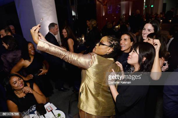 Ava DuVernay and guests at the Hammer Museum 15th Annual Gala in the Garden with Generous Support from Bottega Veneta on October 14 2017 in Los...