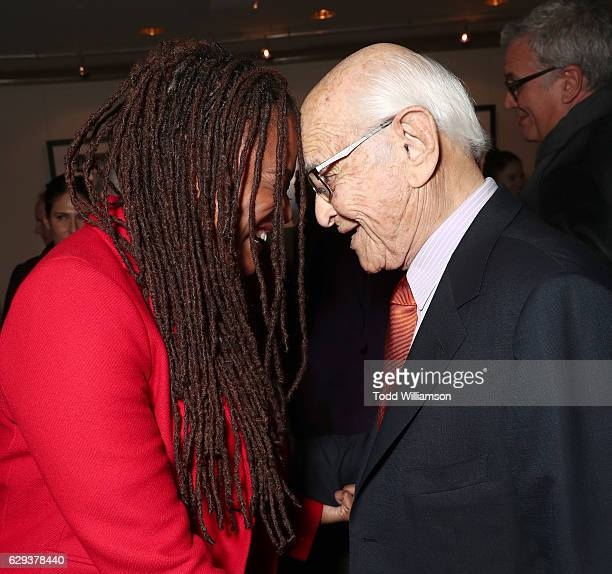 Ava DuVernay and honoree Norman Lear attend the 32nd Annual IDA Documentary Awards at Paramount Studios on December 9 2016 in Hollywood California