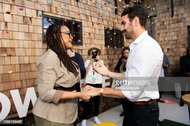 Ava Duvernay and Nyle DiMarco attend the 3rd annual National Day of Racial Healing at Array on January 22 2019 in Los Angeles California