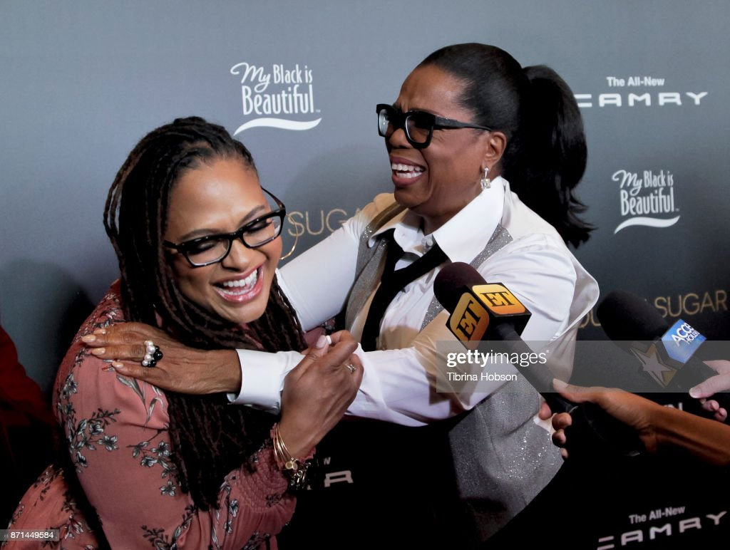 Ava DuVernay and Oprah Winfrey attend the taping of 'Queen Sugar After-Show' at OWN Oprah Winfrey Network on November 7, 2017 in West Hollywood, California.