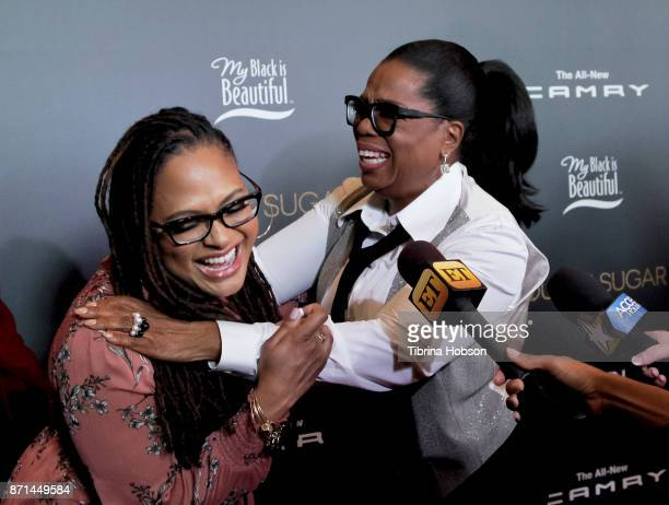 Ava DuVernay and Oprah Winfrey attend the taping of Queen Sugar AfterShow at OWN Oprah Winfrey Network on November 7 2017 in West Hollywood California