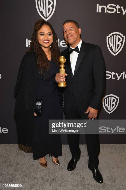 Ava DuVernay and Peter Ramsey attend the 2019 InStyle and Warner Bros 76th Annual Golden Globe Awards PostParty at The Beverly Hilton Hotel on...