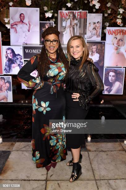 Ava DuVernay and Vanity Fair's Executive West Coast Editor Krista Smith attend Vanity Fair and Lancome Paris Toast Women in Hollywood hosted by...