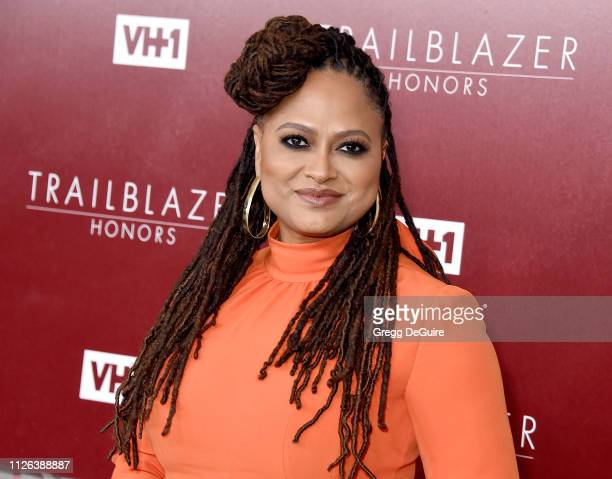 Ava DuVernay arrives at VH1 Trailblazer Honors at The Wilshire Ebell Theatre on February 20 2019 in Los Angeles California