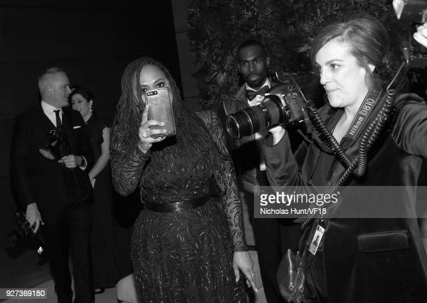 Ava DuVernay attends the 2018 Vanity Fair Oscar Party hosted by Radhika Jones at Wallis Annenberg Center for the Performing Arts on March 4 2018 in...