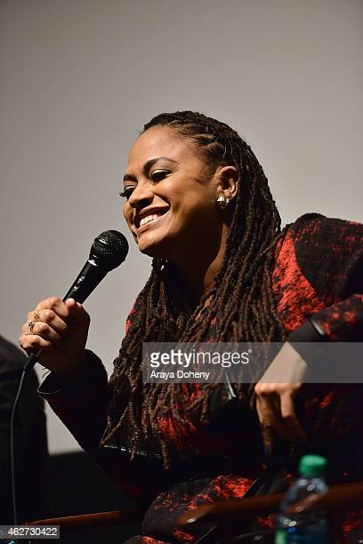 Ava DuVernay attends the Film Independent's Directors CloseUp Ava DuVernay The Road To Selma at the Landmark Theater on February 3 2015 in Los...