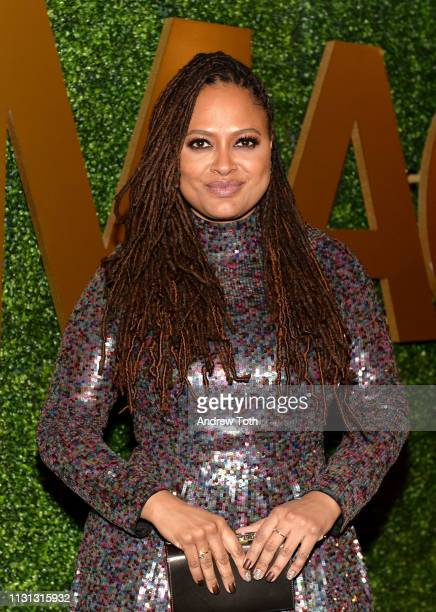 Ava DuVernay attends the MACRO PreOscar Party 2019 at Casita Hollywood on February 21 2019 in Los Angeles California