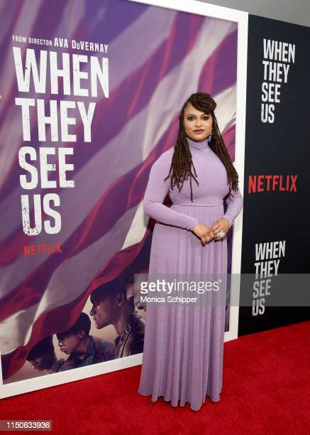 Ava DuVernay attends the World Premiere of Netflix's When They See Us at the Apollo Theater on May 20 2019 in New York City