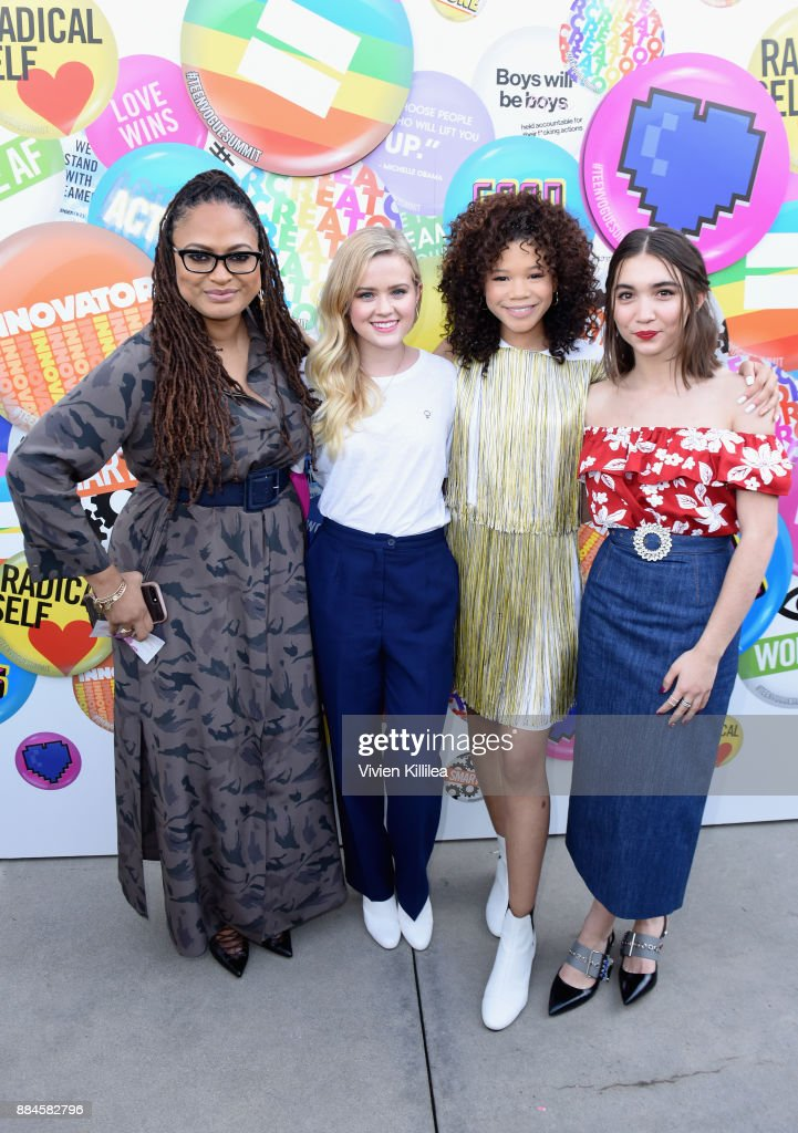 Ava DuVernay, Ava Phillippe, Storm Reid, and Rowan Blanchard attend The Teen Vogue Summit