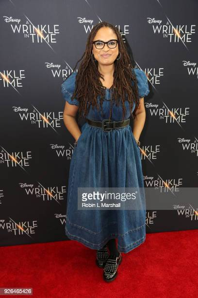 Ava DuVernay brings Disney's A Wrinkle In Time to Compton at Douglas F Dollarhide Community Center on March 2 2018 in Compton California