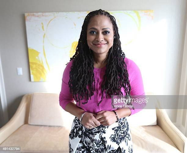 Ava Duvernay director of SELMA biopic of Martin Luther King Jr pose for pictures at the Ritz Hotel in Toronto