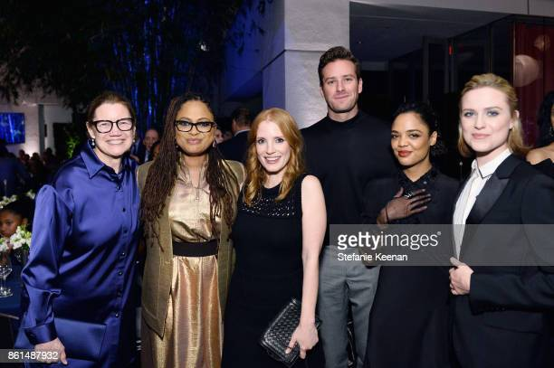 Ava DuVernay Jessica Chastain Armie Hammer Tessa Thompson and Evan Rachel Wood at the Hammer Museum 15th Annual Gala in the Garden with Generous...