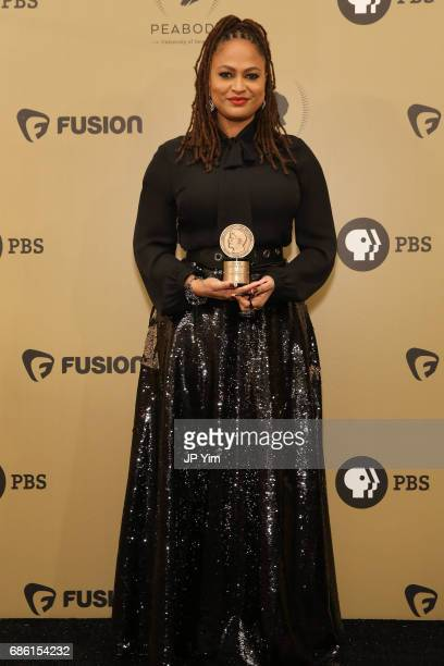 Ava DuVernay poses with an award during The 76th Annual Peabody Awards Ceremony at Cipriani Wall Street on May 20 2017 in New York City