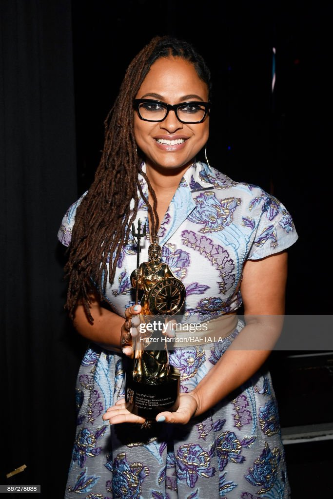 Ava DuVernay, recipient of the John Schlesinger Britannia Award for Excellence in Directing presented by The GREAT Britain Campaign, at the 2017 AMD British Academy Britannia Awards Presented by American Airlines And Jaguar Land Rover at The Beverly Hilton Hotel on October 27, 2017 in Beverly Hills, California.