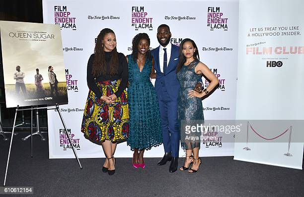 Ava DuVernay Rutina Wesley Kofi Siriboe and DawnLyen Gardner attend Film Independent at LACMA An Evening With Ava DuVernay and Oprah Winfrey at Bing...