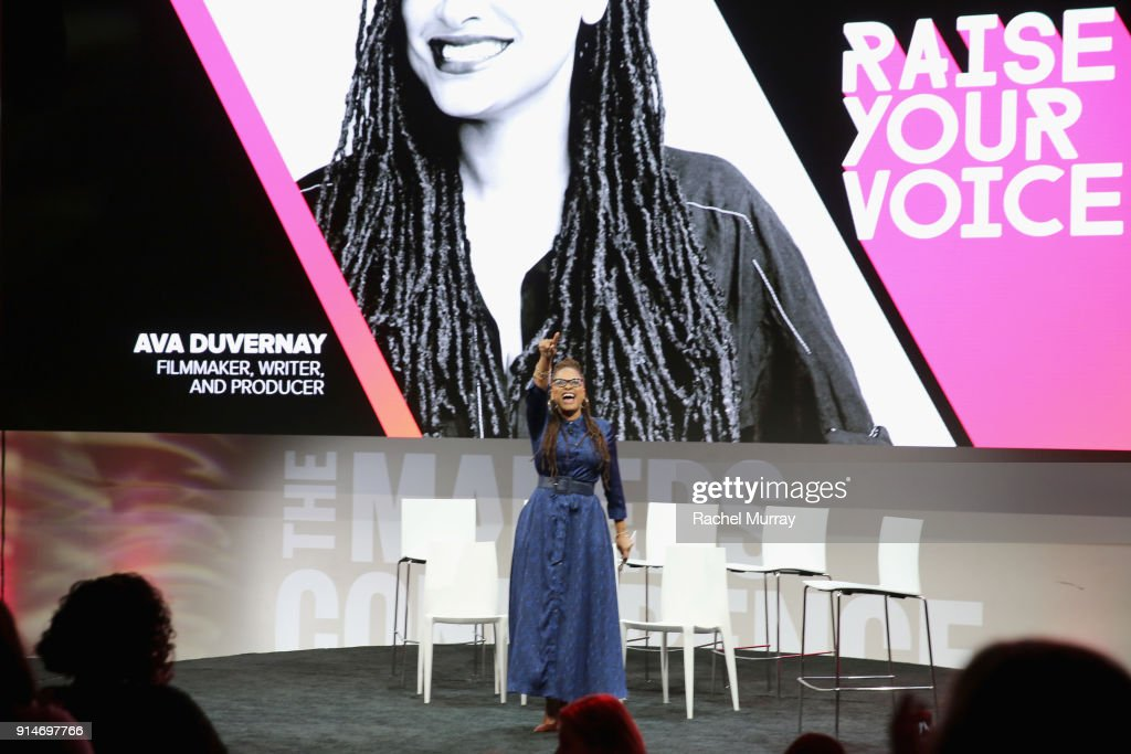 Ava DuVernay speaks onstage during The 2018 MAKERS Conference at NeueHouse Hollywood on February 5, 2018 in Los Angeles, California.