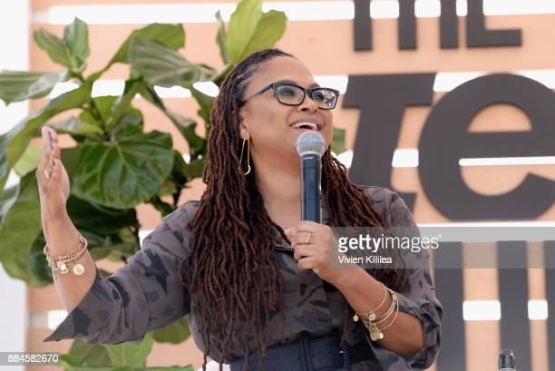 Ava DuVernay speaks onstage during The Teen Vogue Summit LA Keynote Conversation with A Wrinkle In Time director Ava Duvernay and actresses Rowan...