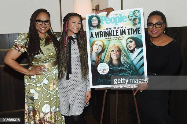 Ava DuVernay Storm Reid and Oprah Winfrey attend as PEOPLE celebrates Disney's A Wrinkle In Time at Per Se on March 7 2018 in New York City