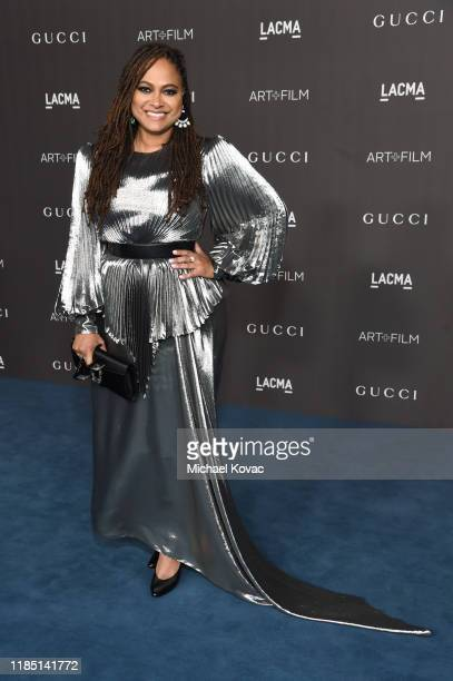 Ava DuVernay wearing Gucci attends the 2019 LACMA Art Film Gala Presented By Gucci at LACMA on November 02 2019 in Los Angeles California
