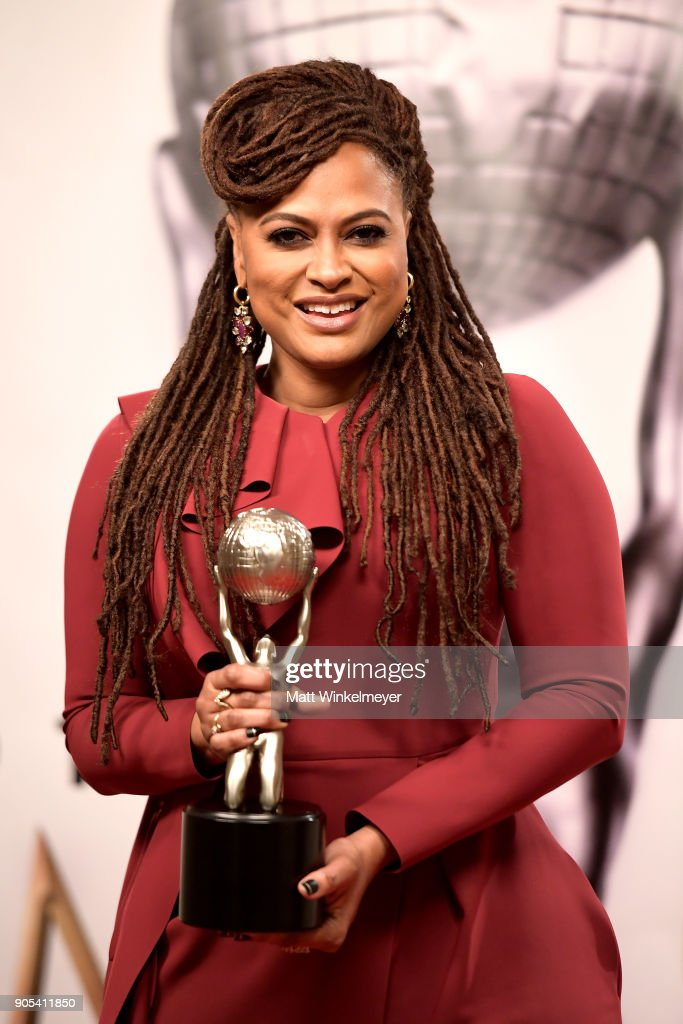 Ava DuVernay, winner of the Entertainer of the Year award, poses in the press room for the 49th NAACP Image Awards at Pasadena Civic Auditorium on January 15, 2018 in Pasadena, California.