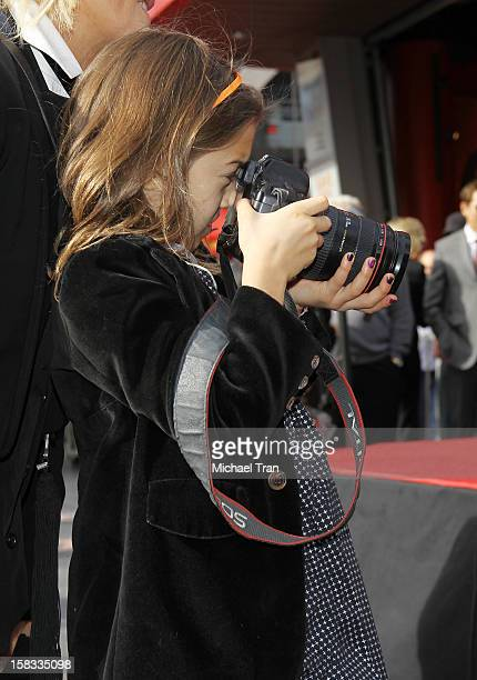 Ava Eliot Jackman attends the ceremony honoring her father Hugh Jackman with a Star on The Hollywood Walk of Fame held on December 13 2012 in...