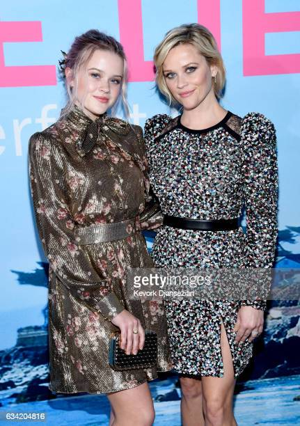 Ava Elizabeth Phillippe and actress Reese Witherspoon attend the premiere of HBO's Big Little Lies at TCL Chinese Theatre on February 7 2017 in...