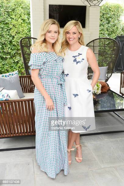 Ava Elizabeth Phillippe and Reese Witherspoon attend NET-A-PORTER x Draper James Event on June 6, 2017 in Beverly Hills, California.